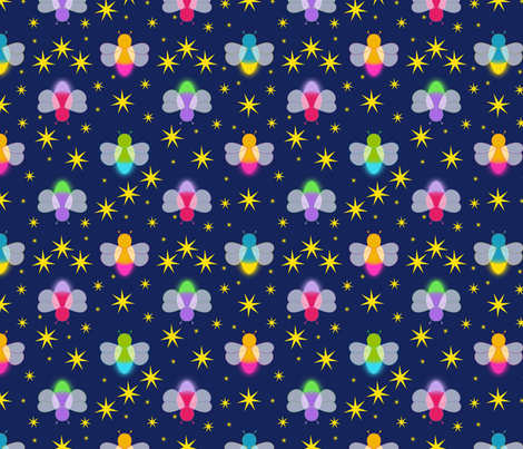 Fireflies fabric by alexsan on Spoonflower - custom fabric