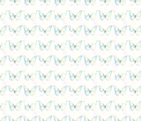 butterflybluetile fabric by ellajohnston_art+illustration on Spoonflower - custom fabric