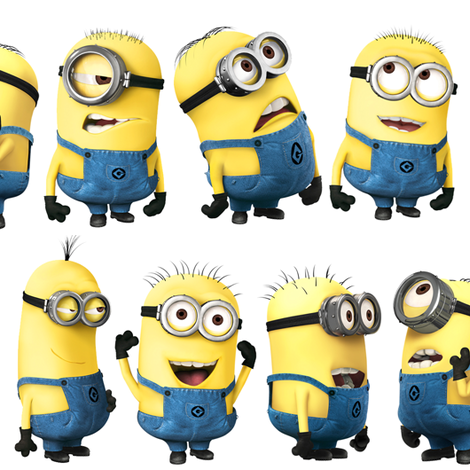 Gru's Larger Minions fabric by moremeknow on Spoonflower - custom fabric