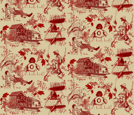 huck finn tea stained fabric by paragonstudios on Spoonflower - custom fabric