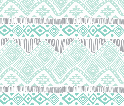 aztec-minty fabric by cjordan10 on Spoonflower - custom fabric