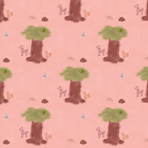 sweet woodland creature scene
