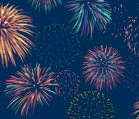 fireworks in the evening fabric by weavingmajor on Spoonflower - custom fabric