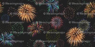 fireworks at midnight