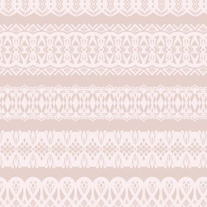 Blushing lace stripe