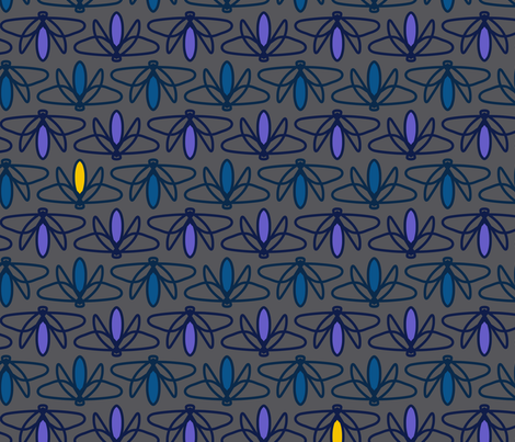 A Firefly Night fabric by mariafaithgarcia on Spoonflower - custom fabric