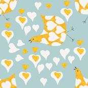 Chicken Love Hearts