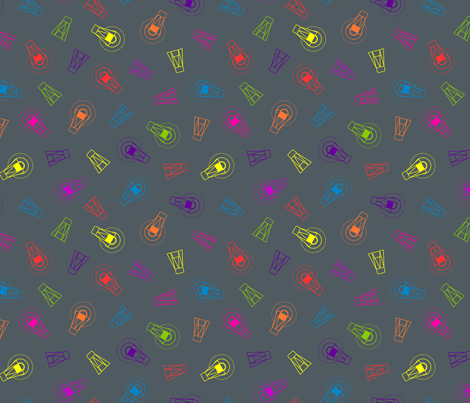 Neon Firefly Scatter fabric by modgeek on Spoonflower - custom fabric