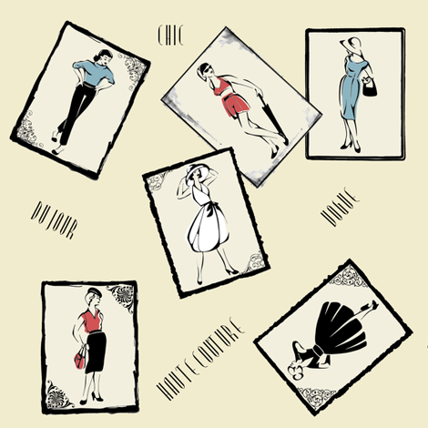 50's Fashion Parade fabric by gingersnaptea on Spoonflower - custom fabric