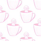 Pink Pup in A Cup