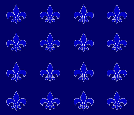 Fleur De Lis (Custom) fabric by popstationery&gifts on Spoonflower - custom fabric