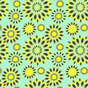 Firefly Flowers in Retro Blue