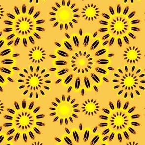 Firefly Flowers in Retro Orange