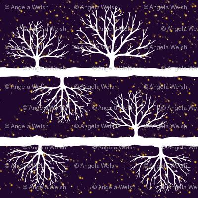 Fireflies Among the Trees