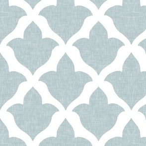 Fleur, in Bird's Egg Blue Linen