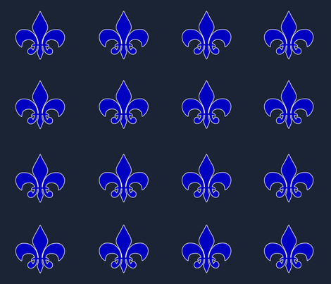 Fleur_De_Lis_2 fabric by campbellcreative on Spoonflower - custom fabric