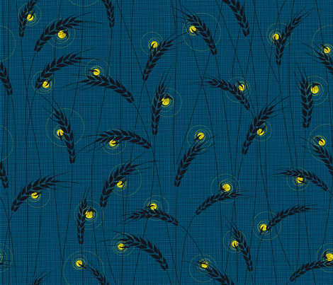 Julie's Lights Field fabric by juliesfabrics on Spoonflower - custom fabric