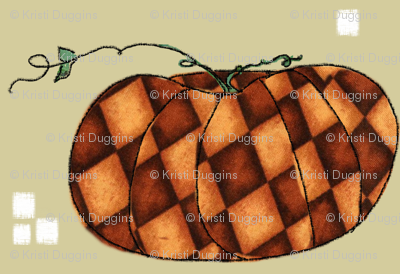Fall Things: Autumn Pumpkins on Cappuccino Beige