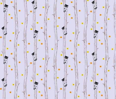 Fireflies in the Tree Tops fabric by rebeccajean on Spoonflower - custom fabric