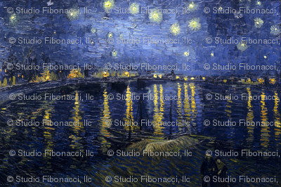 van Gogh - Starry Night Over the Rhone (1888)