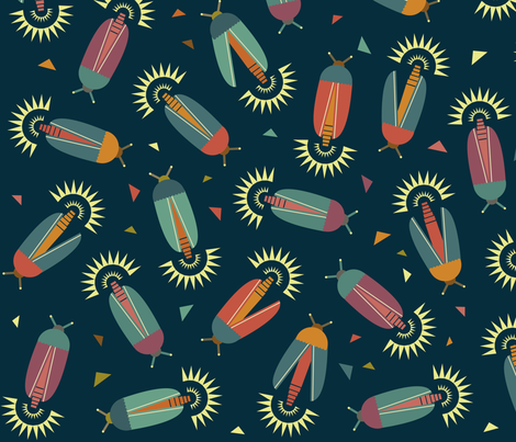 Colourful night fabric by sansan on Spoonflower - custom fabric
