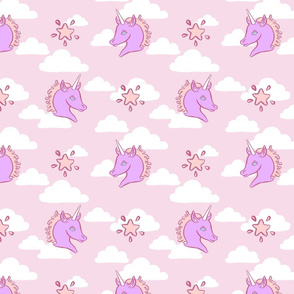 Pink Cloud Unicorns
