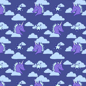 Blue Unicorn Clouds