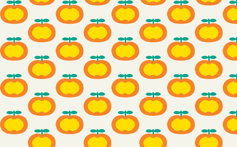 apple orange fabric by myracle on Spoonflower - custom fabric