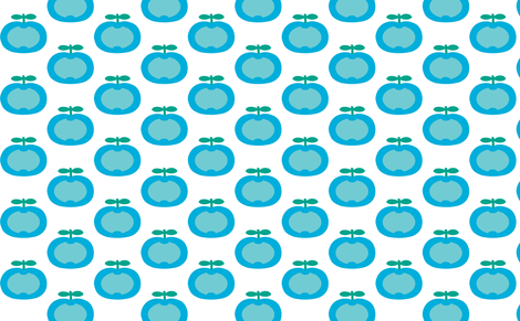apple blue fabric by myracle on Spoonflower - custom fabric