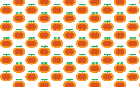 apple orange heart fabric by myracle on Spoonflower - custom fabric