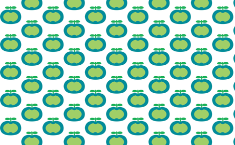 apple green heart fabric by myracle on Spoonflower - custom fabric