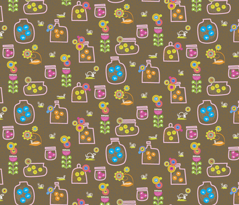 Fireflies fabric by gracemellow on Spoonflower - custom fabric