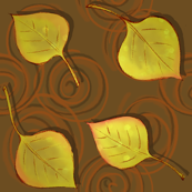 Autumn Aspen Leaves Brown