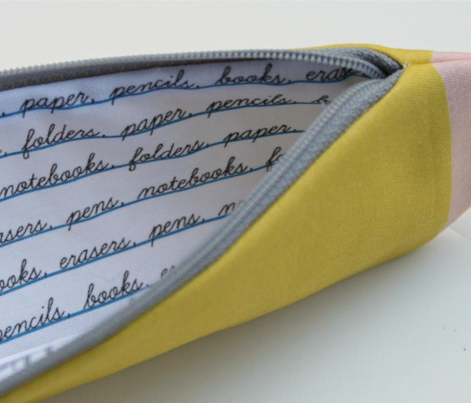 Cut and Sew Pencil Pouch