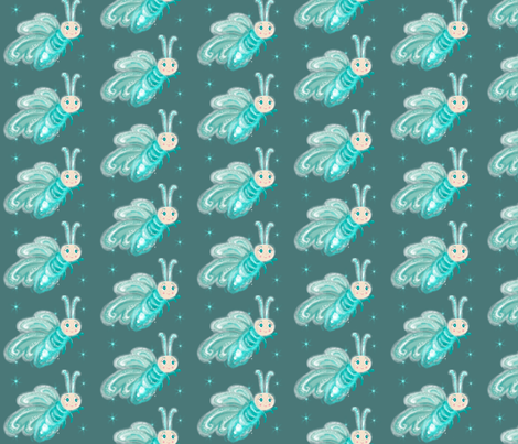 la_luciole_d_hiver fabric by cr©adine_ on Spoonflower - custom fabric