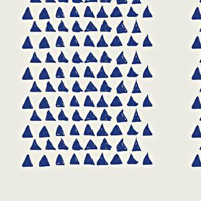 triangle in blue