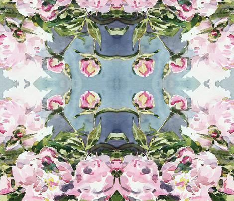 cestlaviv_peony21x21 duvet project fabric by cest_la_viv on Spoonflower - custom fabric