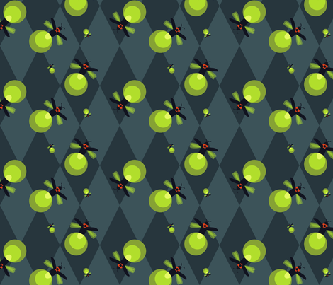 Firefly Argyle fabric by carynikins on Spoonflower - custom fabric