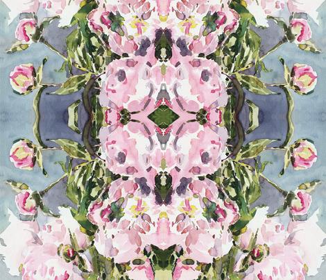 cestlaviv_peony42x42ccw fabric by cest_la_viv on Spoonflower - custom fabric