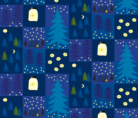moonlight_starlight__firelight fabric by reginamartinedesign on Spoonflower - custom fabric