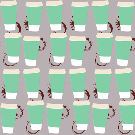 I Need Coffee fabric by dejachic on Spoonflower - custom fabric