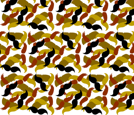 Layered Mustaches fabric by thestanleys on Spoonflower - custom fabric