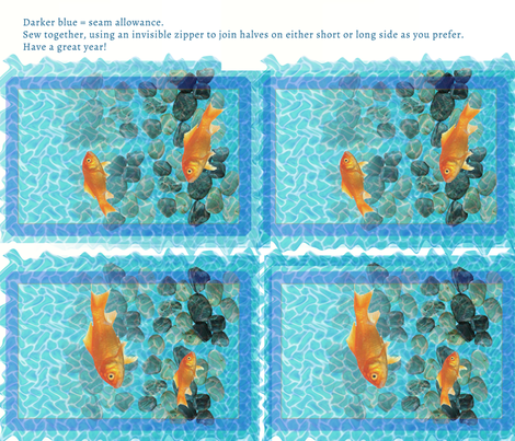A fish in water fabric by haleystudio on Spoonflower - custom fabric