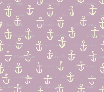 Tiny Lilac Anchors