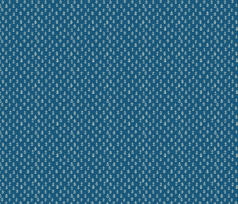NAVY_ANCHORS--tiny scale fabric by gsonge on Spoonflower - custom fabric