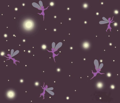 fireflies and fairies fabric by paragonstudios on Spoonflower - custom fabric