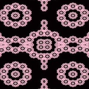 Granny Square Fractal- pink and black