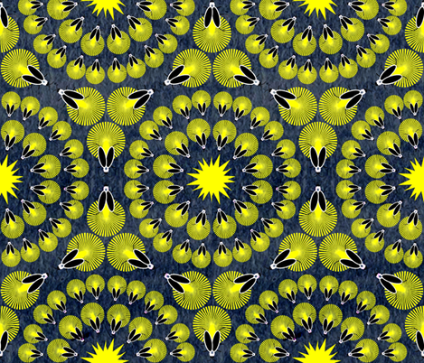 Fireflies Synchronize fabric by owlandchickadee on Spoonflower - custom fabric