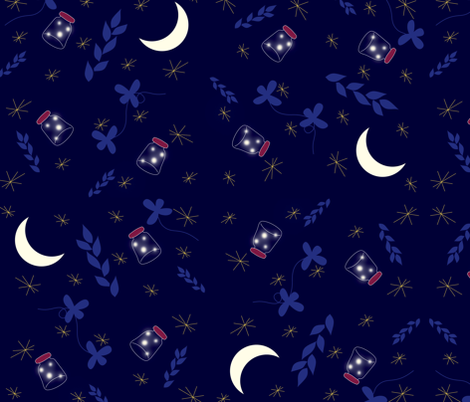 Summer_lights fabric by yazooky on Spoonflower - custom fabric