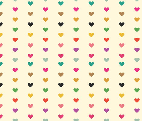 Rainbow Hearts fabric by michellenilson on Spoonflower - custom fabric